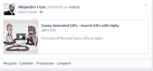 gif en Facebook